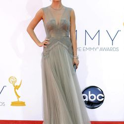 Actress Emily VanCamp arrives at the 64th Primetime Emmy Awards at the Nokia Theatre on Sunday, Sept. 23, 2012, in Los Angeles.