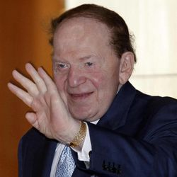 FILE - In this June 7, 2011 file photo, Las Vegas Sands Corp. CEO  Sheldon Adelson waves in Hong Kong. Sure, there's always handwringing about money in politics. This time really is different _ the first presidential race since the courts pulled out the stops, freeing billionaires and businesses to write multimillion-dollar checks for their pet candidates. It's the Year of Big Money.
