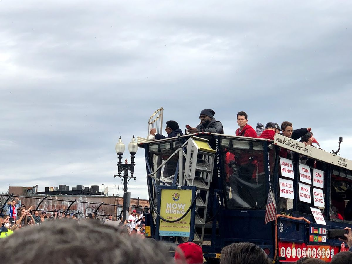 No parade is complete without Pedro and Papi!