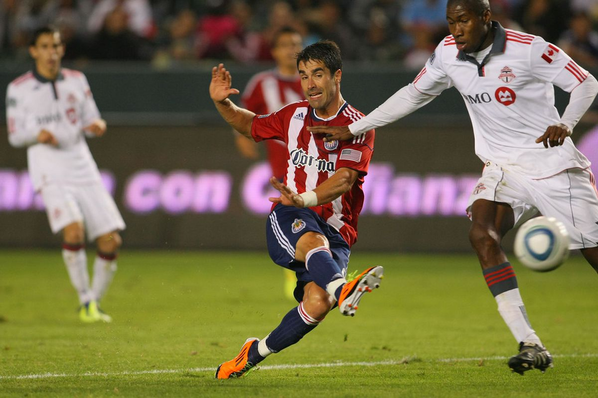 CARSON, CA - SEPTEMBER 24:  The fans' choice for Chivas USA's MVP (Photo by Victor Decolongon/Getty Images)