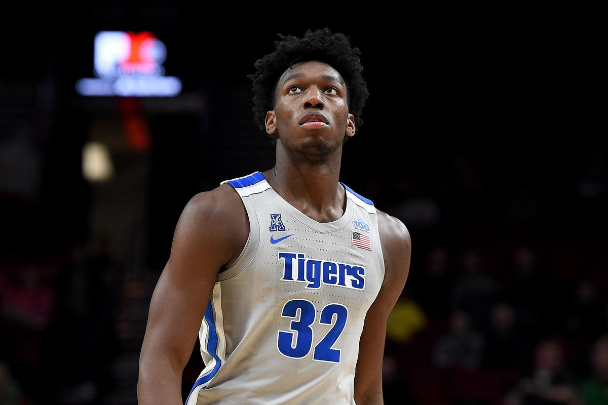 James Wiseman of the Memphis Tigers walks up court during the first half of the game against the Oregon Ducks between the Oregon Ducks and Memphis Grizzlies at Moda Center on November 12, 2019 in Portland, Oregon.