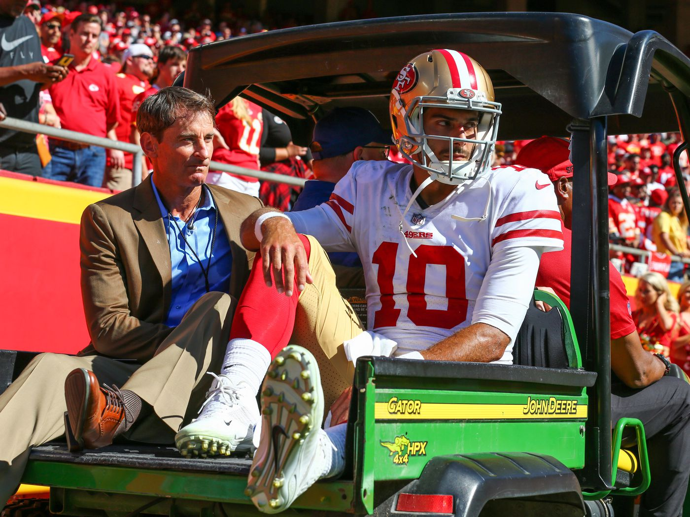 7d49f550d Jimmy Garoppolo wanders into 49ers locker room and quickly leaves - Niners  Nation