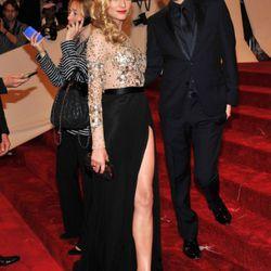 Diane Kruger and Jason Wu, both being upstaged by Diane Kruger's left leg.