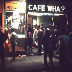 Another nightclub at the heart of the Greenwich Village music and comedy scene, Cafe Wha? opened on 115 MacDougal St, at the corner of Minetta Lane in the late 1950s. The original owner sold Cafe Wha? in 1968 and it became Cafe Feenjon, a nightclub featur