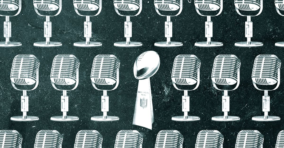 Welcome to Radio Row, the Super Bowl's Carnival of Celebrity Promoters