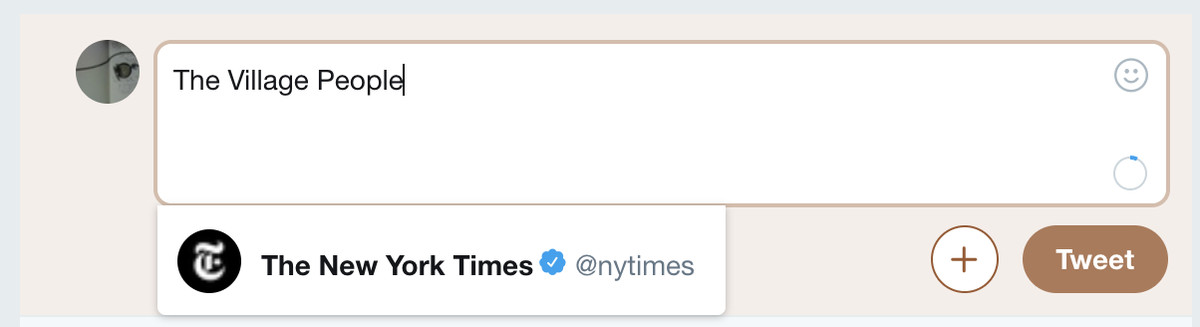 The New York Times Twitter The Village People