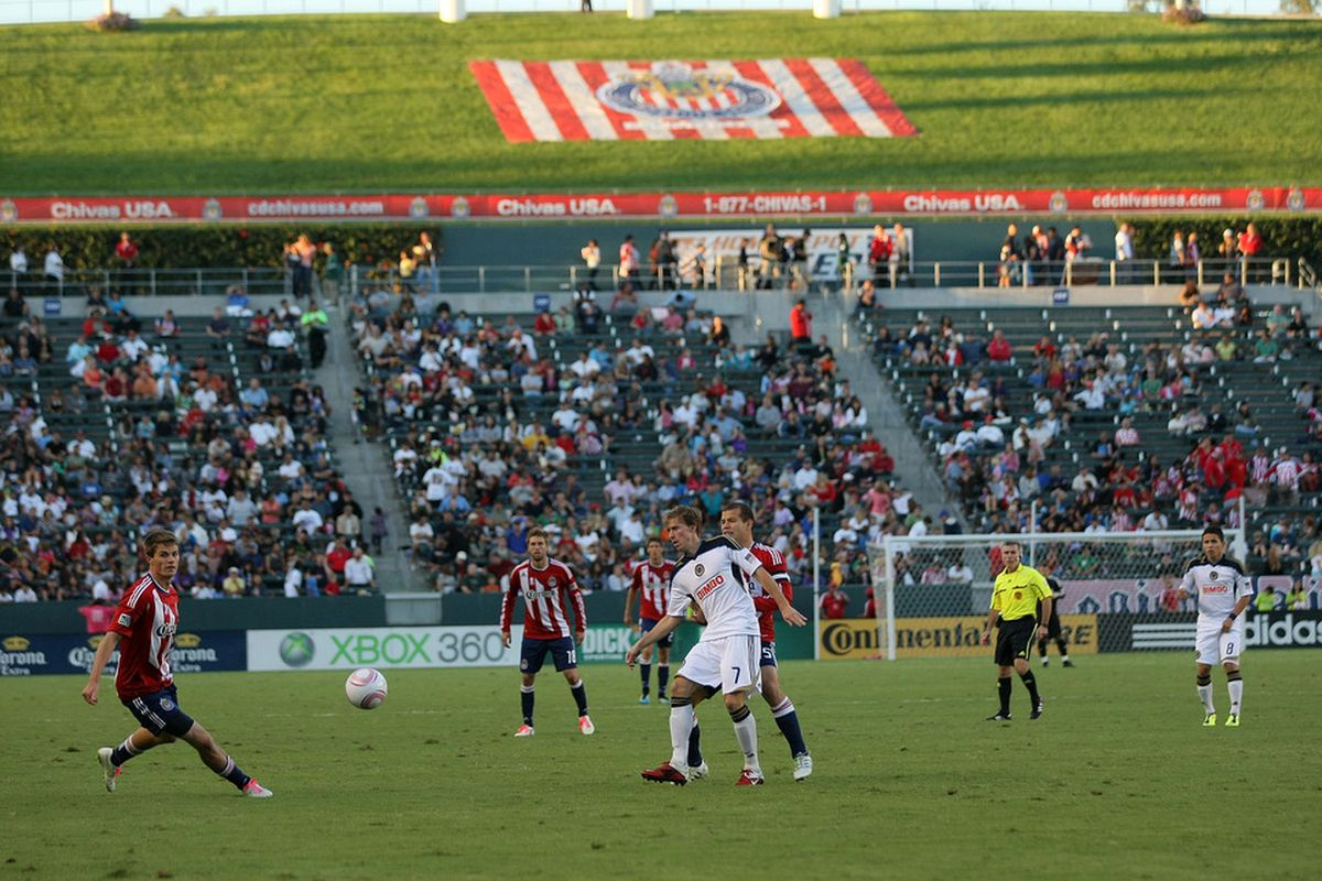CARSON, CA - OCTOBER 02:  Every Chivas USA league match will be televised locally in 2012 (Photo by Victor Decolongon/Getty Images)