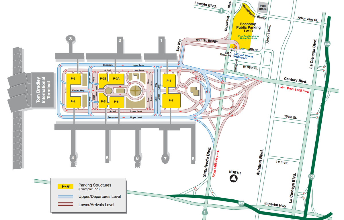 7bb1766320 The layout of LAX. Courtesy of Los Angeles World Airports