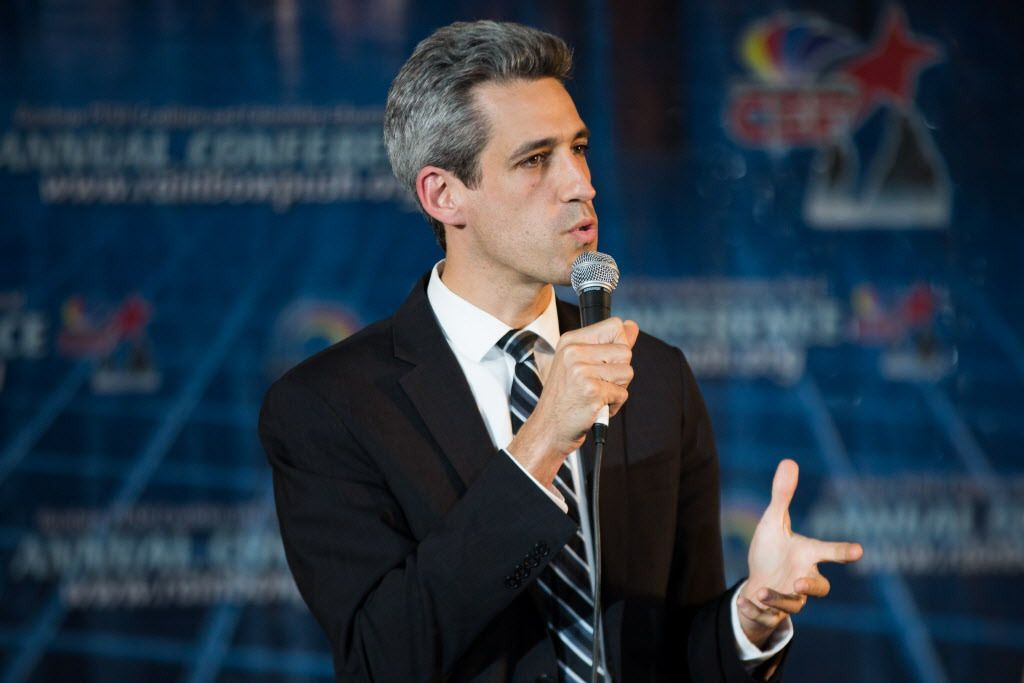 """Daniel Biss: """"There is a place for morality and ethics and a kind of a sense of community in politics . . . . But, then, if you bring the faith into politics in a way that's exclusive of somebody else, that's just dead wrong."""" 