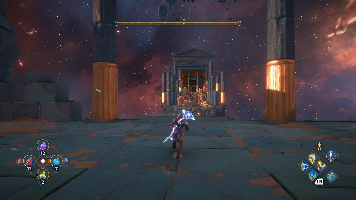 A puzzle solution in the Vault of Hephaistos from Immortals Fenyx Rising