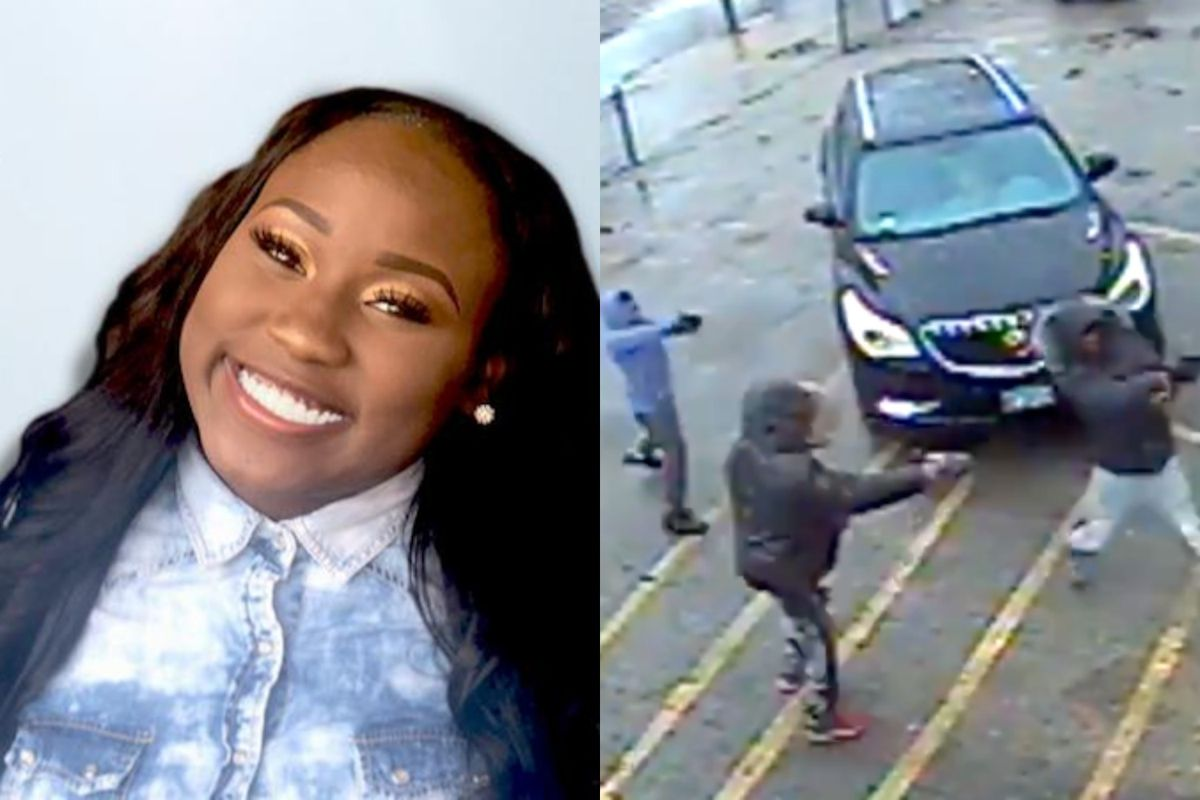 Jaya Beemon (left) was shot to death last Feb. 25 in Avalon Park. Police released images of the three shooters.