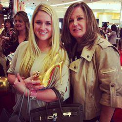 Die-hard Louboutin fan Alyssa Schlosser with her mom, Debra.