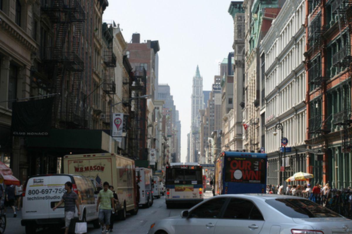 "Broadway in Soho via <a href=""http://www.flickr.com/photos/58964293@N00/3861241938/in/photostream/"">davem_330</a>/Flickr"