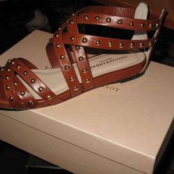 Never-worn Loeffler Randall sandals, $125.