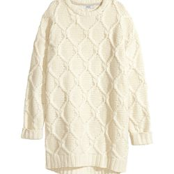 """H&M cable knit dress, <a href=""""http://www.hm.com/us/product/57089?article=57089-A"""">$99</a>"""