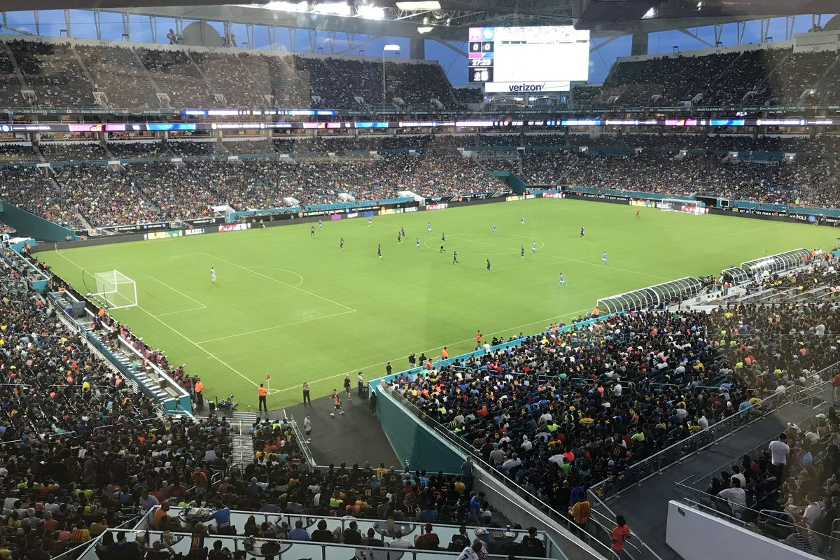 I went to Miami to watch Napoli vs Barcelona, and it was awesome