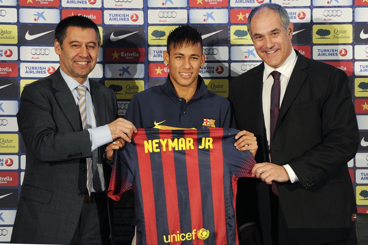Will Neymar turn out to be the first in a long line of Santos strikers to join the Blaugrana?