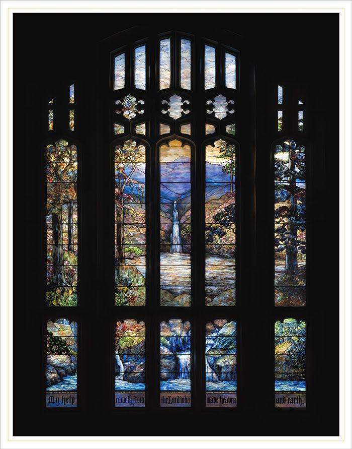 Hartwell Memorial Window 1917, leaded glass; design attributed to Agnes F. Northrop. Tiffany Studios, Corona, New York. The Art Institute of Chicago