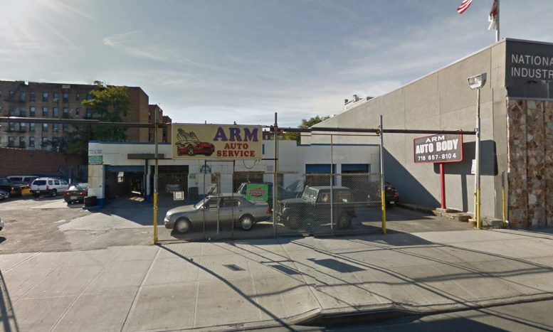 An auto service lot in Jamaica Queens.