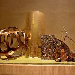 Charlotte Olympia glitter clutch, $1,395, and Poseidon wedges, $1,295, both available at Shoe In.