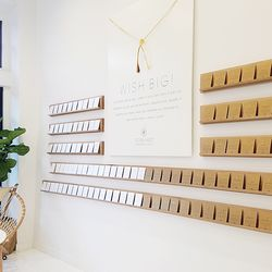 The store's interiors feature eco-friendly touches, like non-toxic paint, recycled materials, and energy-efficient lighting.
