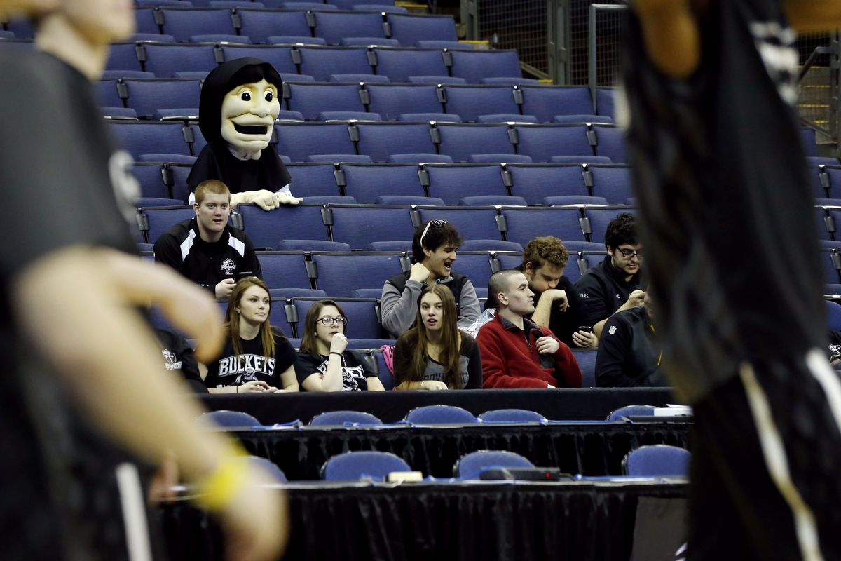 Congratulations, Providence mascot. You've found a way to become more terrifying.