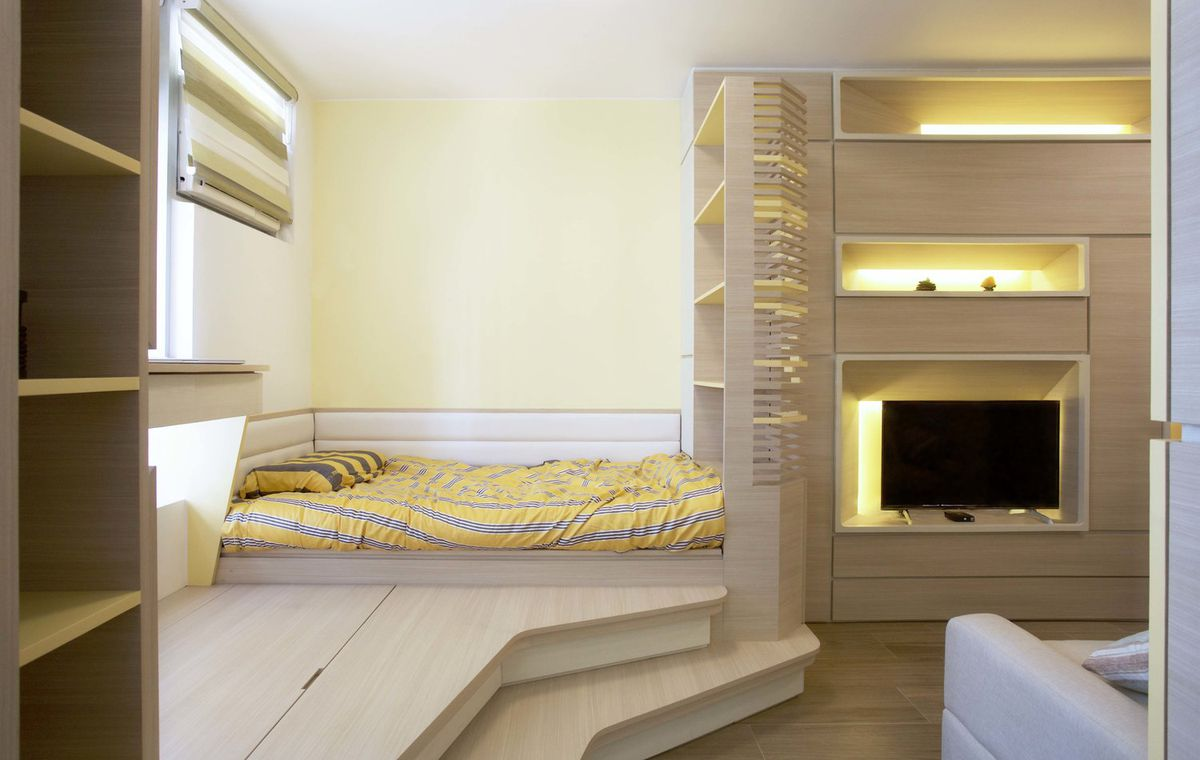 Micro apartment for family of 3 doubles as ceramics gallery - Curbed