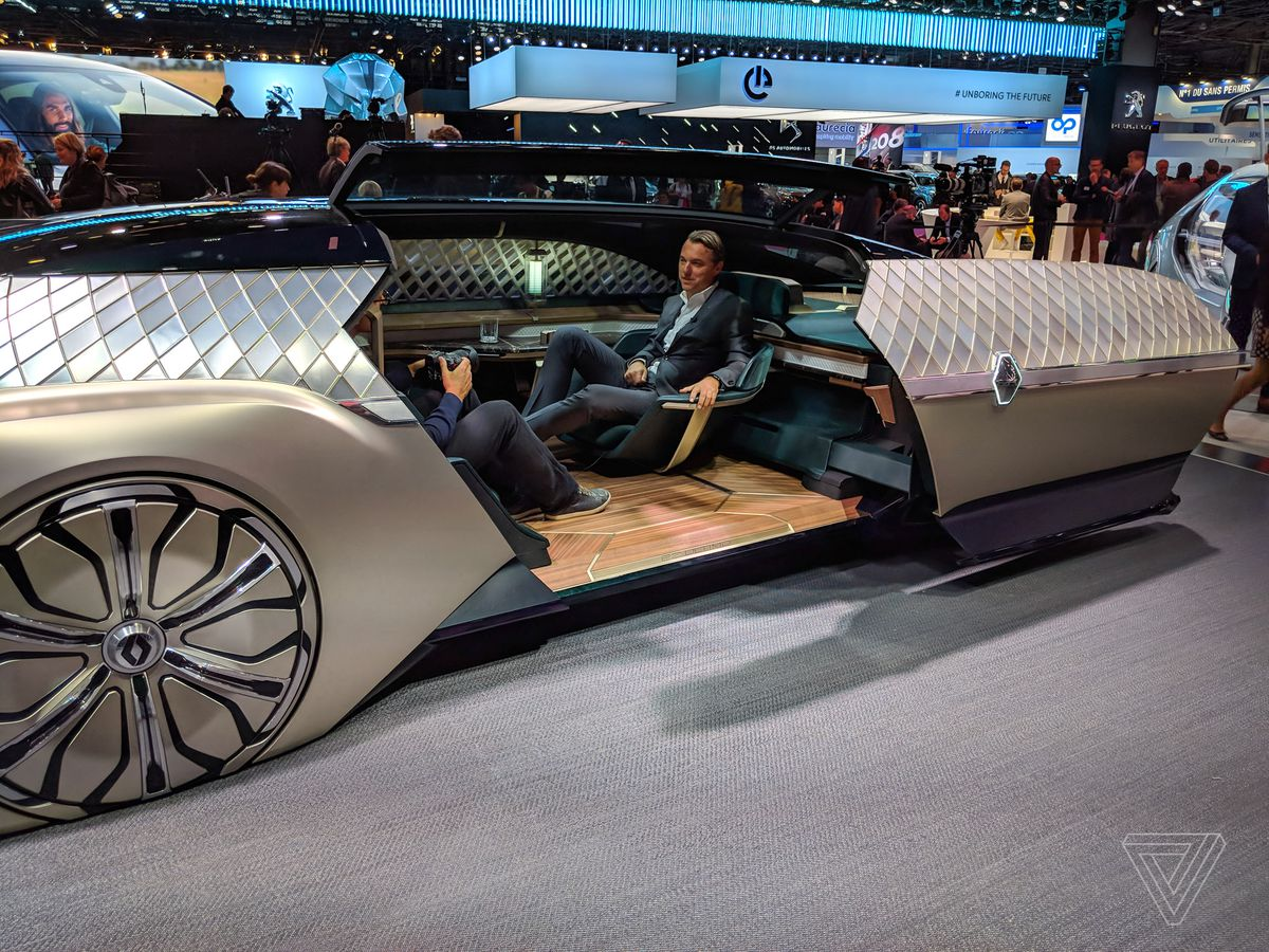 Renault S Ez Ultimo Luxury Self Driving Concept Is A Giant Slice Of