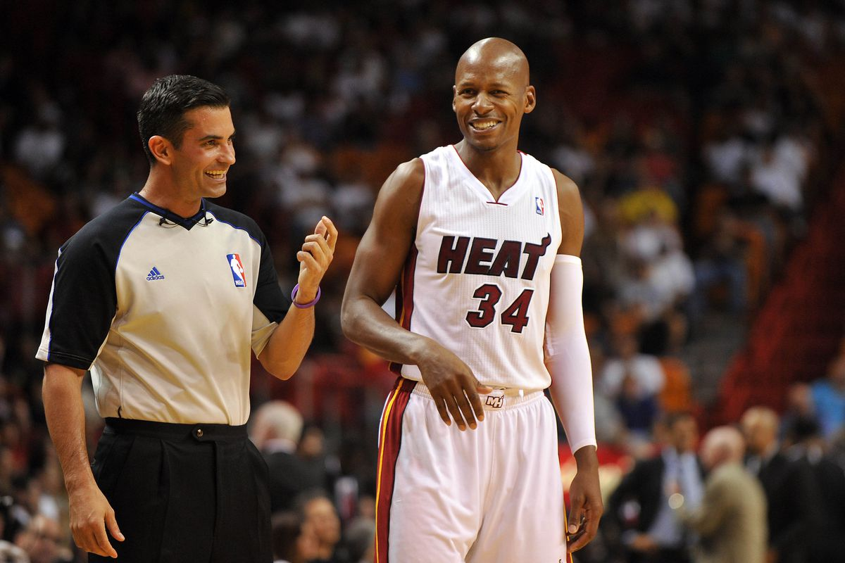 Ray Allen will start in LeBron James' place today.