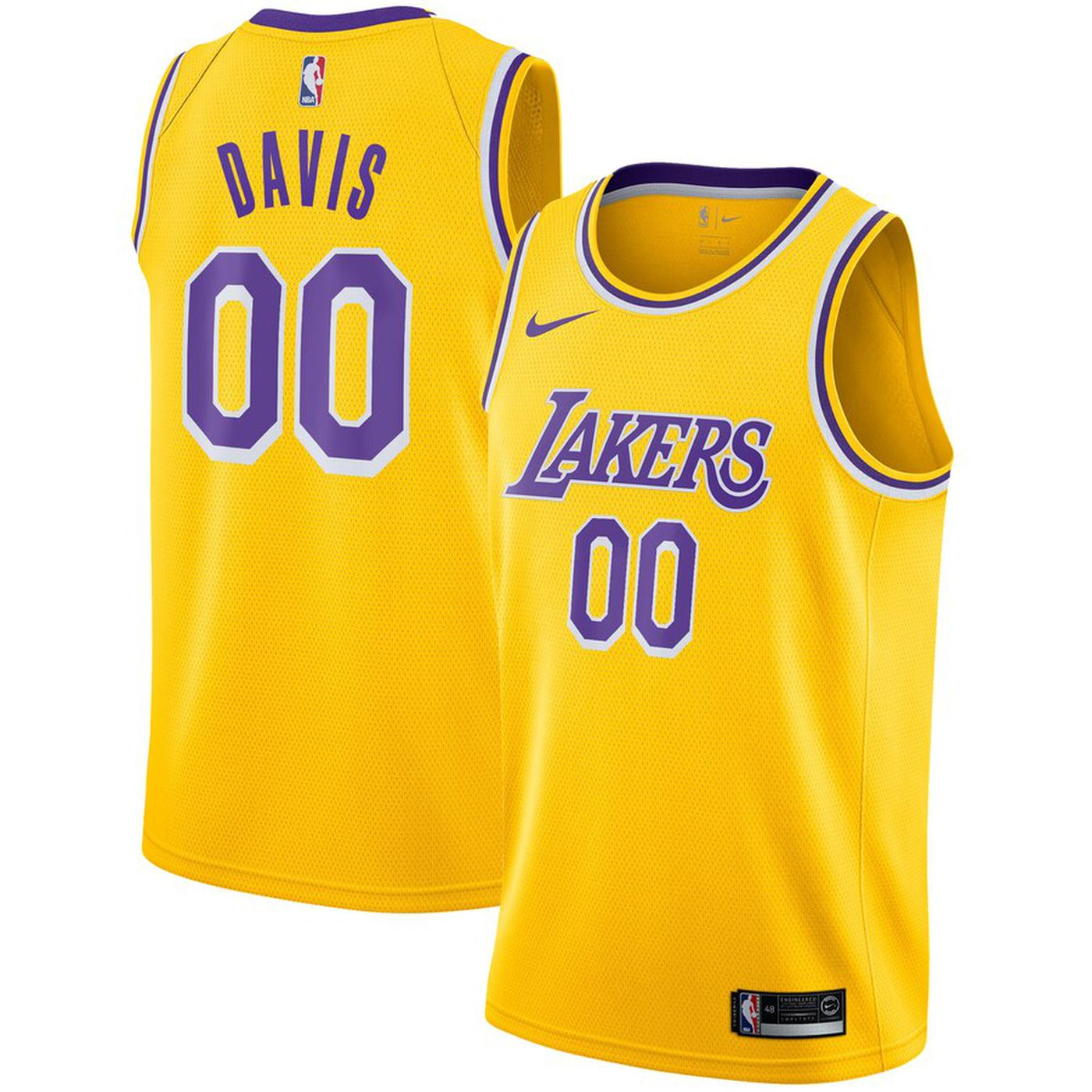 best website e5567 054f0 The first Anthony Davis Los Angeles Lakers jersey has ...