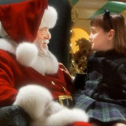 """In this 1994 remake of """"Miracle on 34th Street,"""" Richard Attenborough is Kris Kringle, trying to convince young Mara Wilson he's the real deal."""