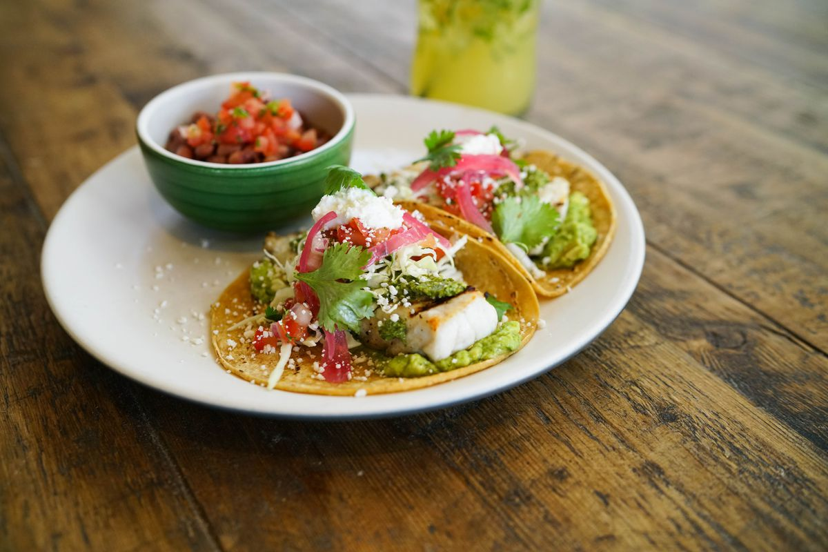 grilled fish tacos await true food kitchen official photo - True Food Kitchen