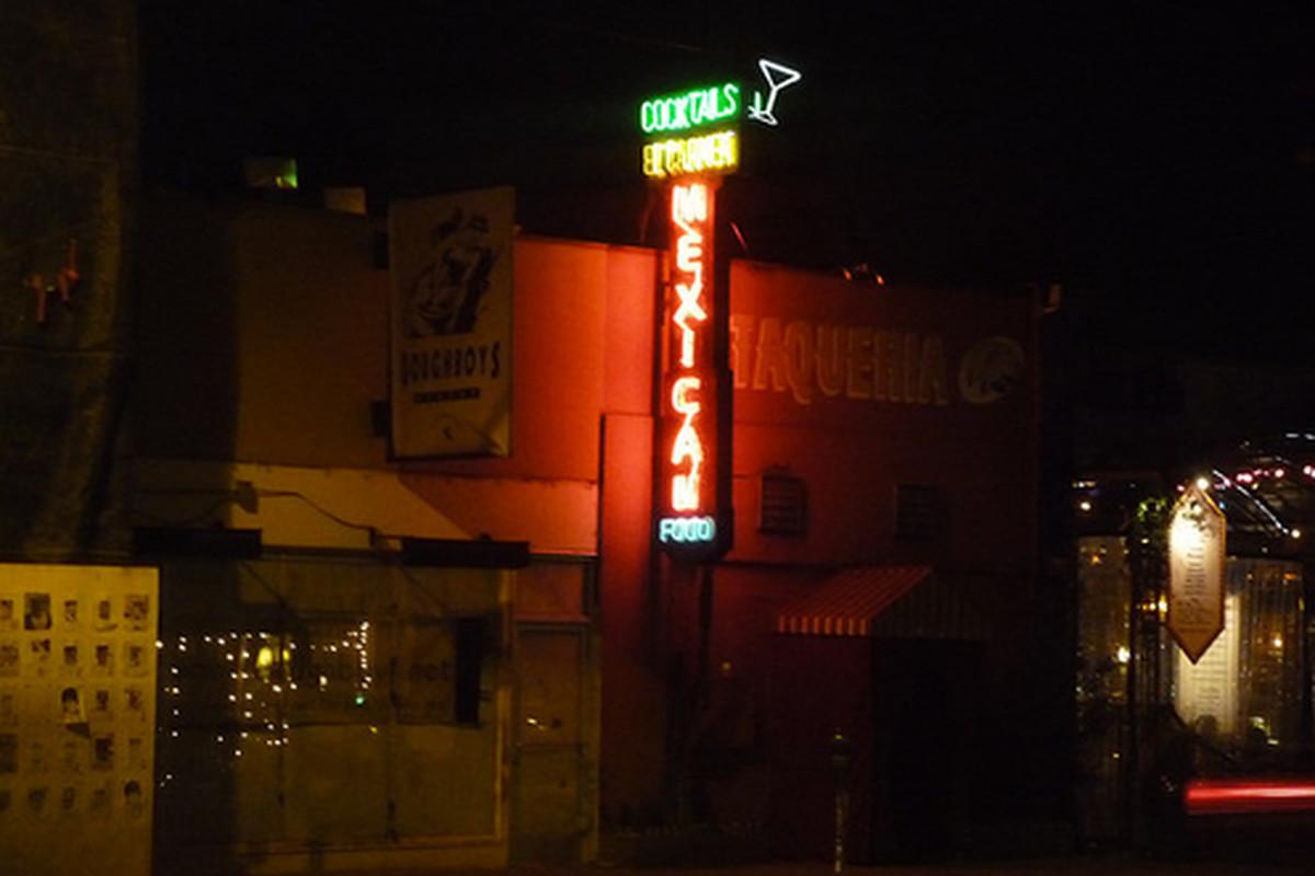 Outside El Carmen, Mid-City.