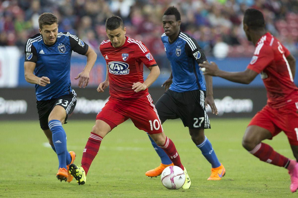 Marc Pelosi and Fatai Alashe close down FC Dallas star Mauro Diaz