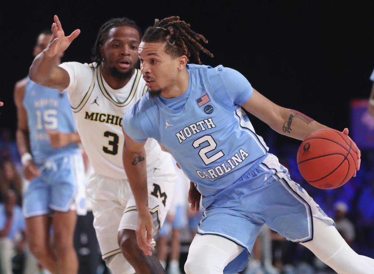 NCAA Basketball: Battle 4 Atlantis-Michigan at North Carolina