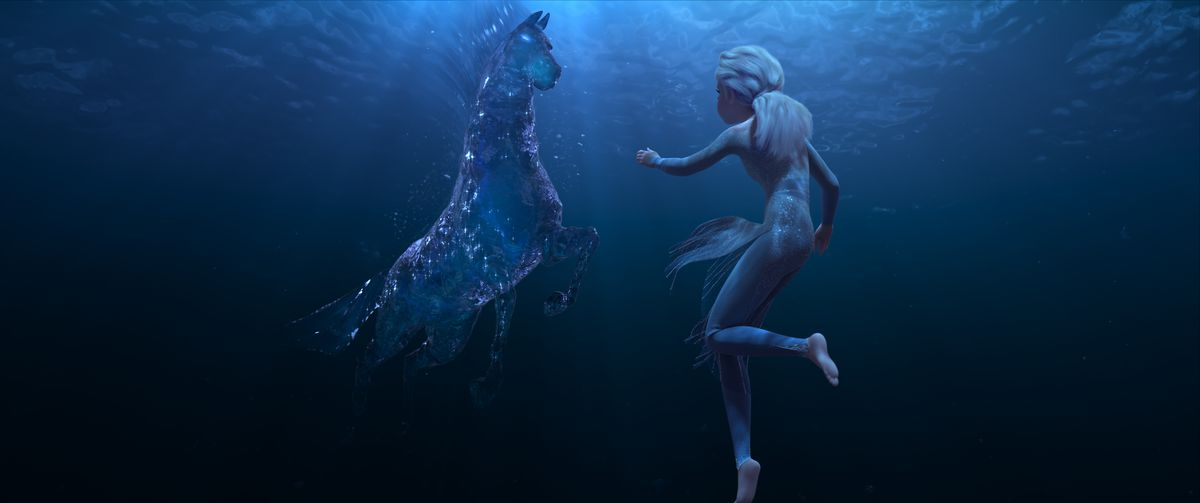"""A mystical horse made of water figures into Elsa's journey in """"Frozen 2."""""""