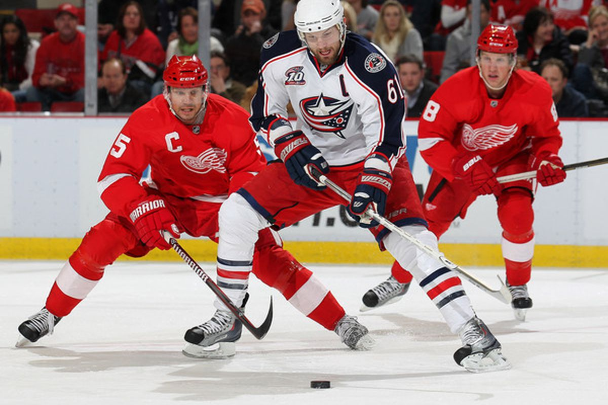 Could Rick Nash end up playing alongside the Red Wings rather than against them? (Photo by Claus Andersen/Getty Images)