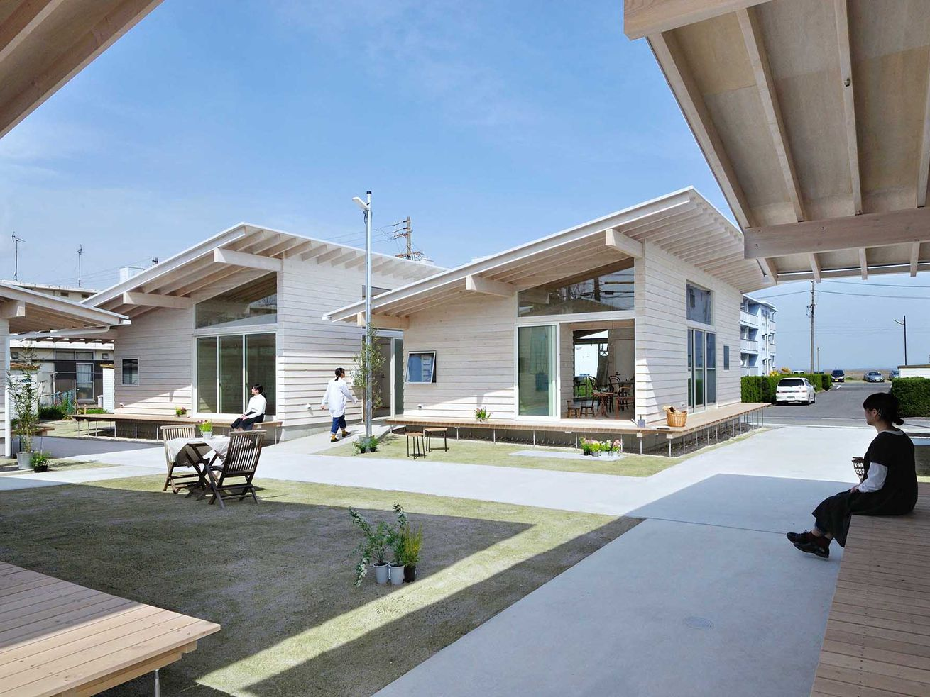 These Japanese homes were designed to encourage neighbor interaction