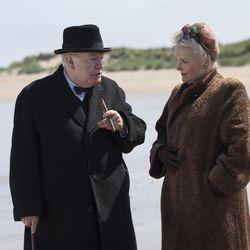 "Brian Cox as Winston Churchill, left, and Miranda Richardson as Clementine Churchill, right, in ""Churchill."""