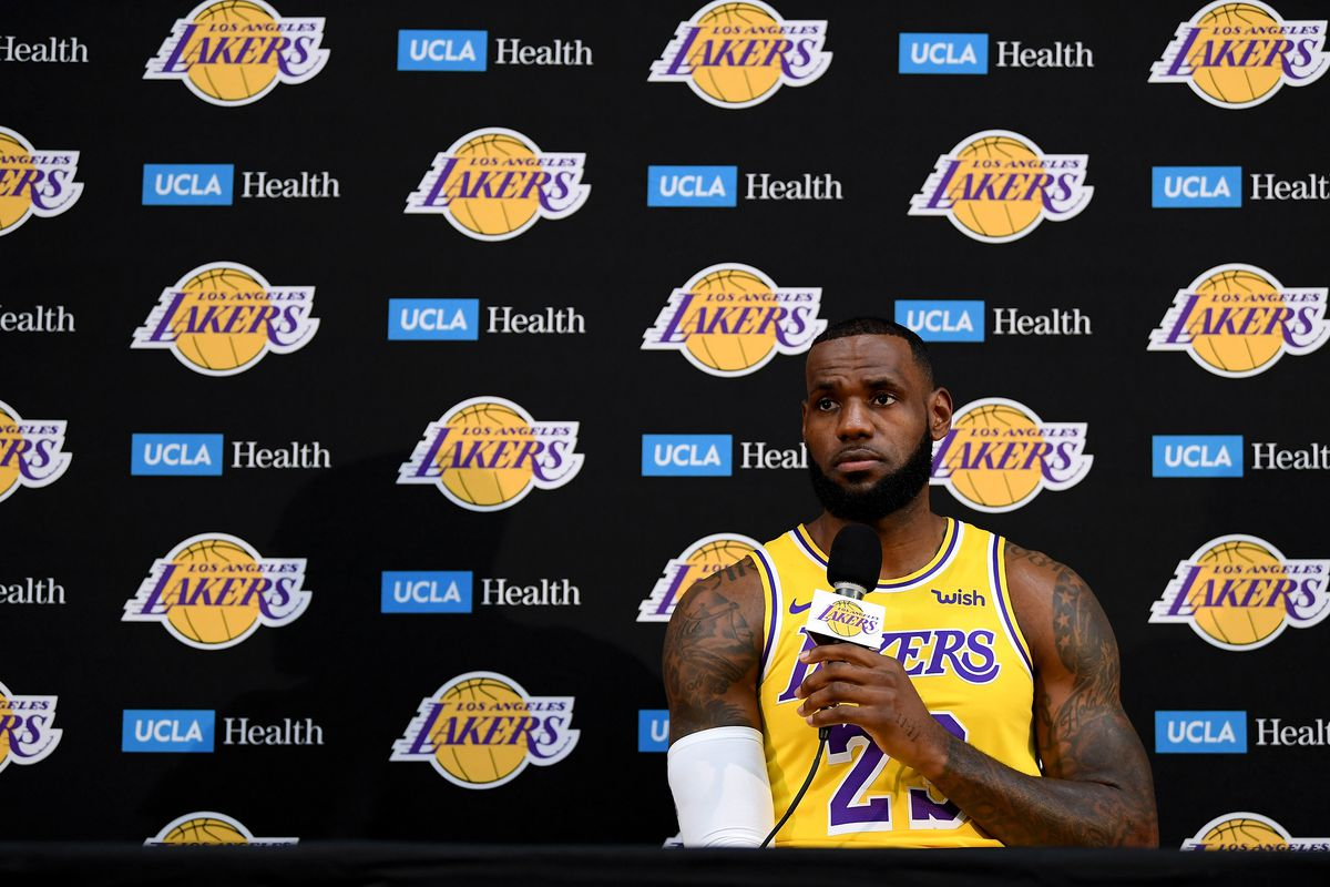 981c68b7b8f LeBron James in a Lakers jersey is surreal. So is seeing his new teammates