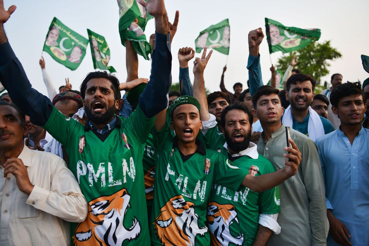 PML-N supporters