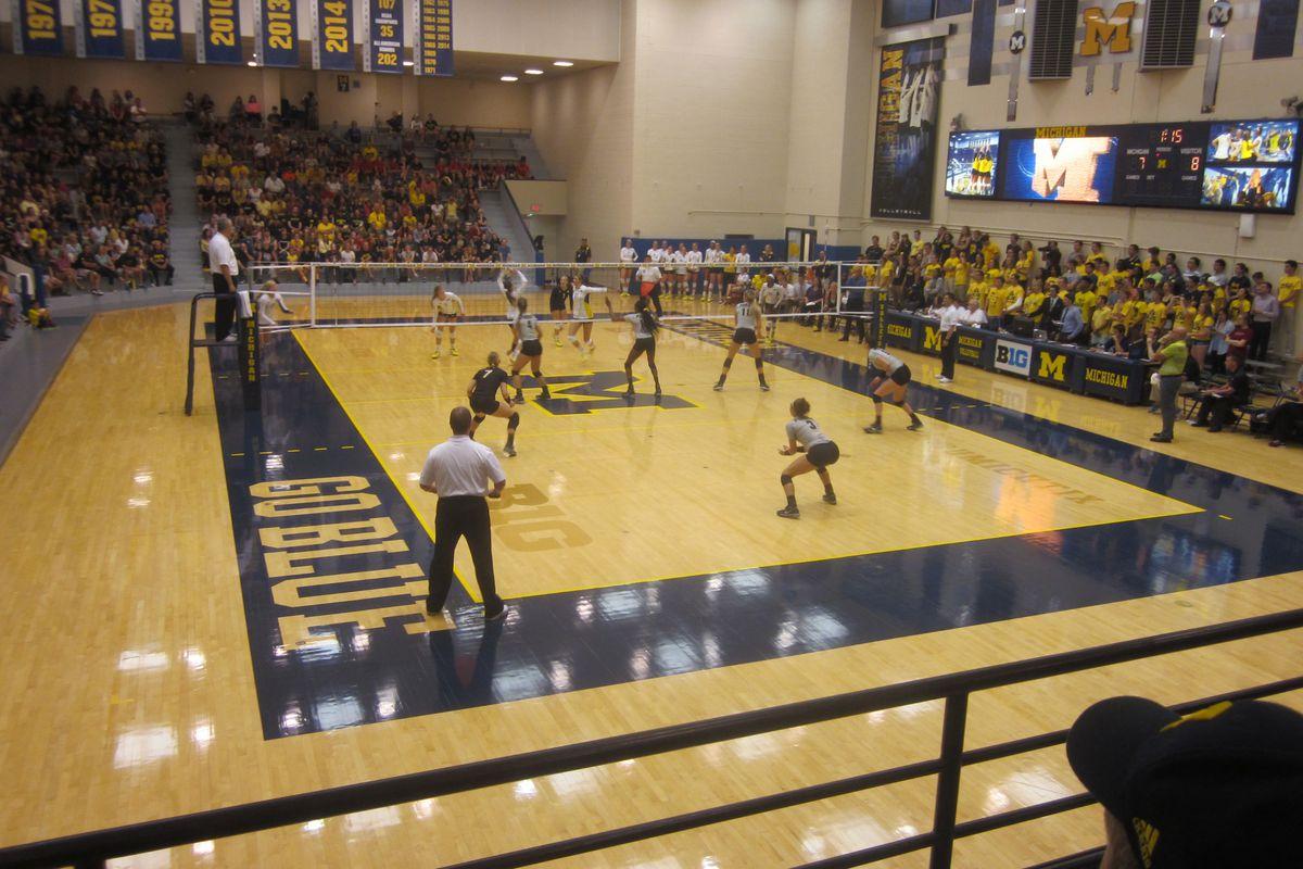 Purdue Volleyball at Michigan 2015