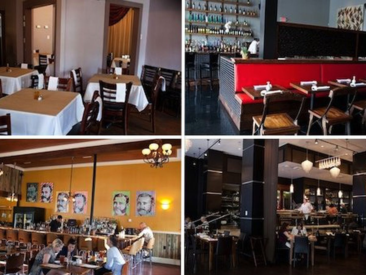Clockwise from top left: Boucherie, Chiba, Domenica, Maurepas Foods.