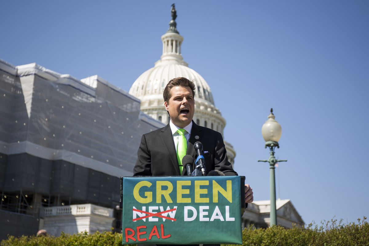Rep. Matt Gaetz Holds Press Conference To Unveil 'Green Real Deal'