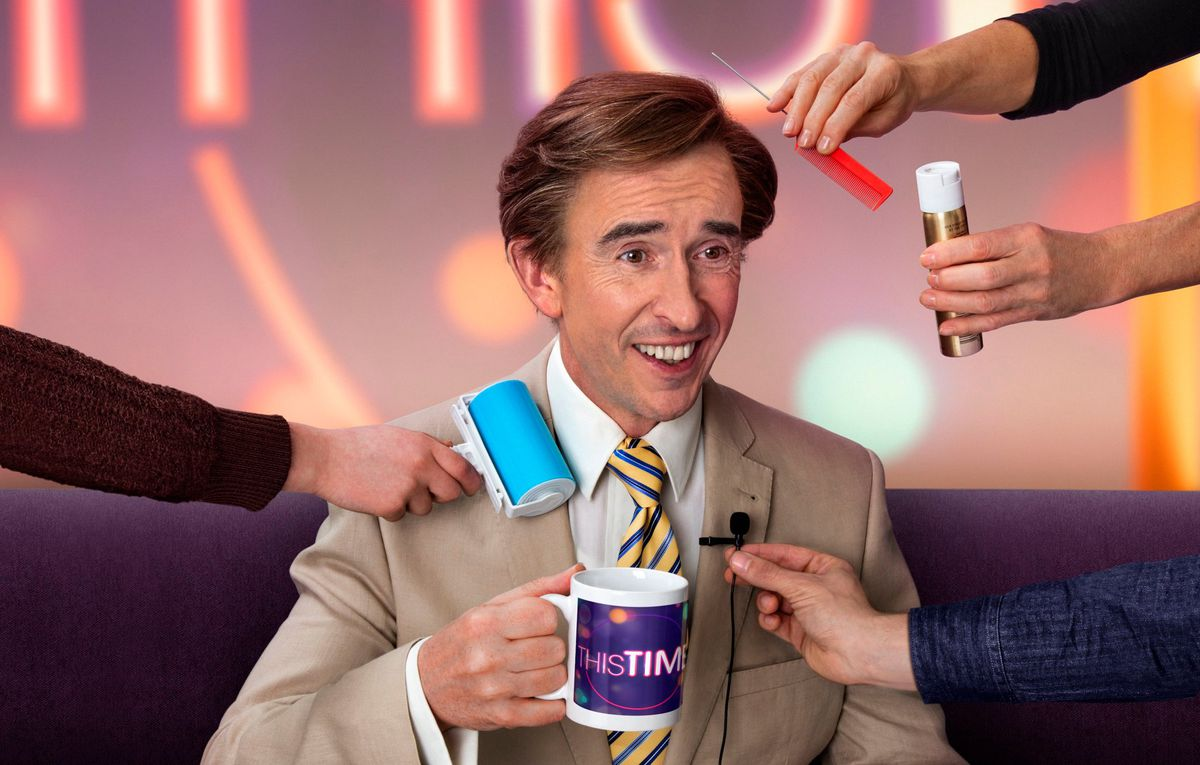 Steve Coogan as Alan Partridge in This Time with Alan Partridge.