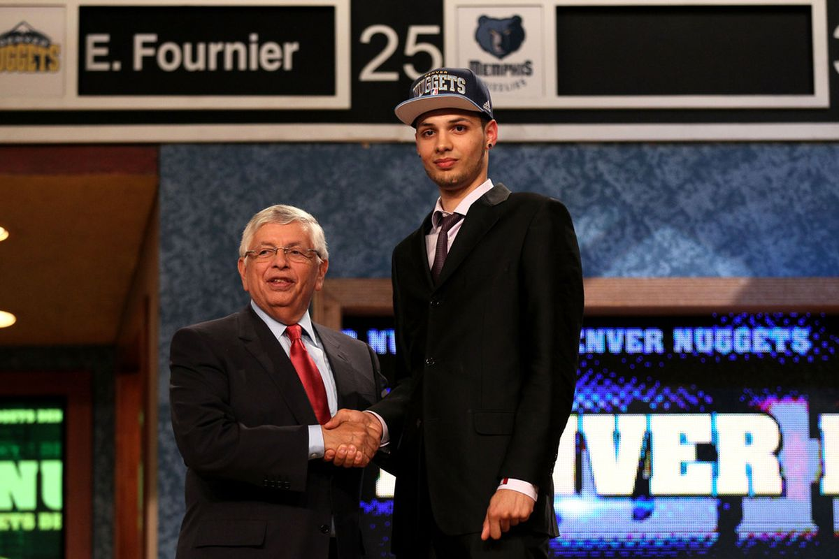 The Nuggets first pick in the NBA Draft. Evan Fournier