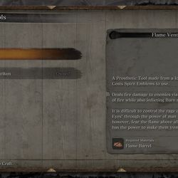 The Flame Barrel becomes the Flame Vent, and its description gives you a hint about who to use it on.