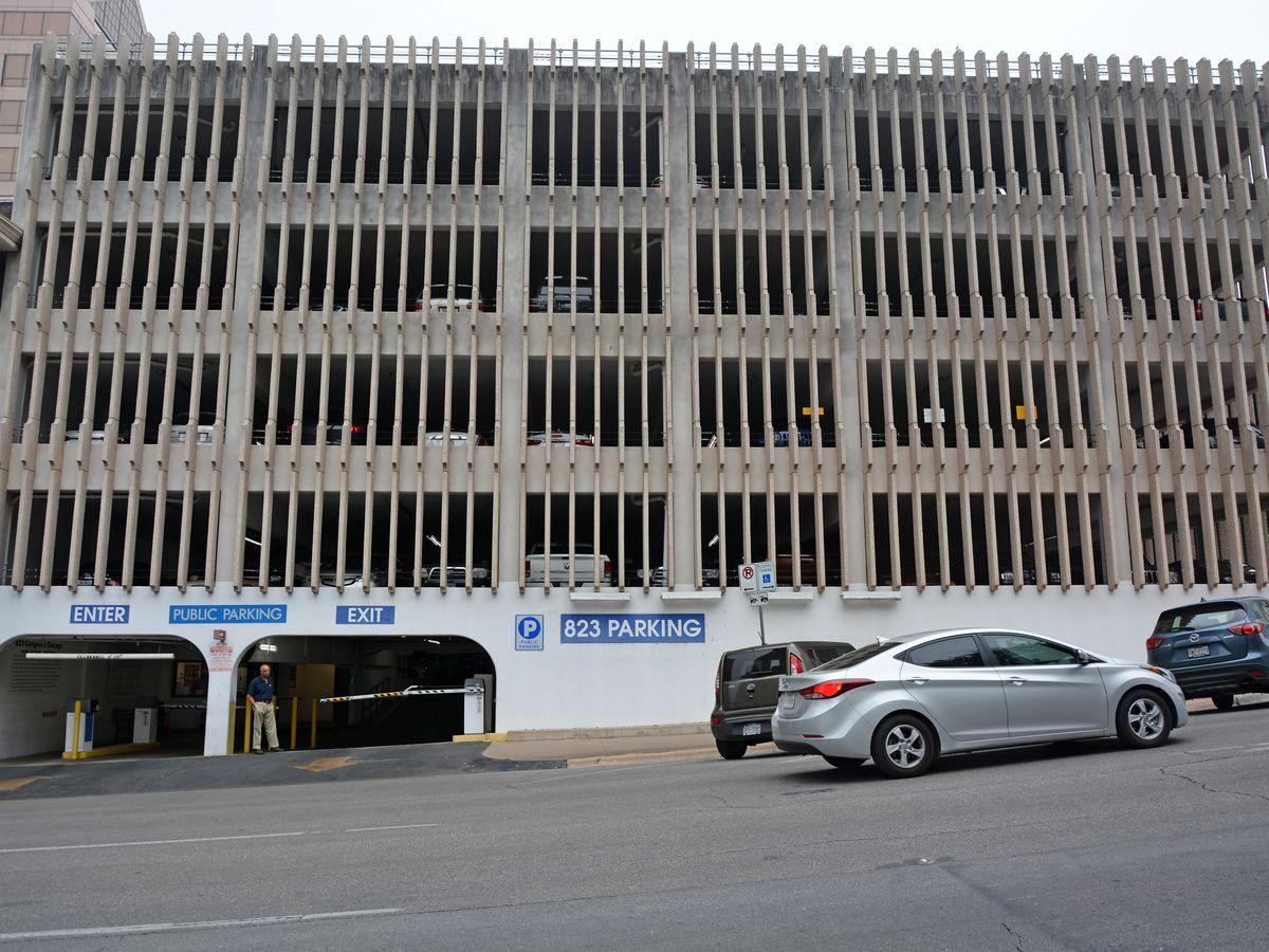 Parking garage in downtown Austin