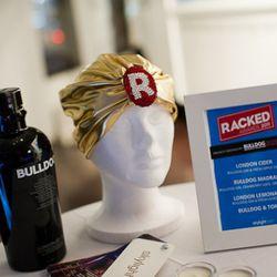 Racked Awards starter kit: Bulldog gin, golden turban, drinks list.