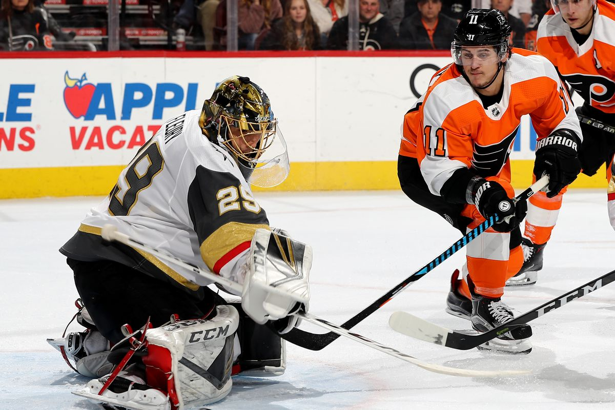 ae01aeac696956 Flyers at Golden Knights lineup, start time, TV, radio, live stream and  discussion